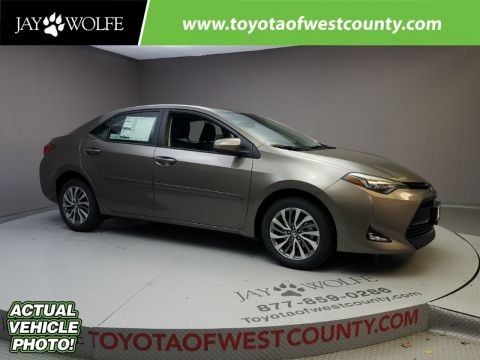 New 2018 TOYOTA COROLLA XLE CVT Sedan